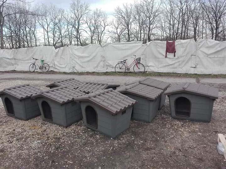 Paradies für Tiere e.V.-Hundehüttenankunft-februar-2020-Spenden-Marathon-2019-Ungarn (1)