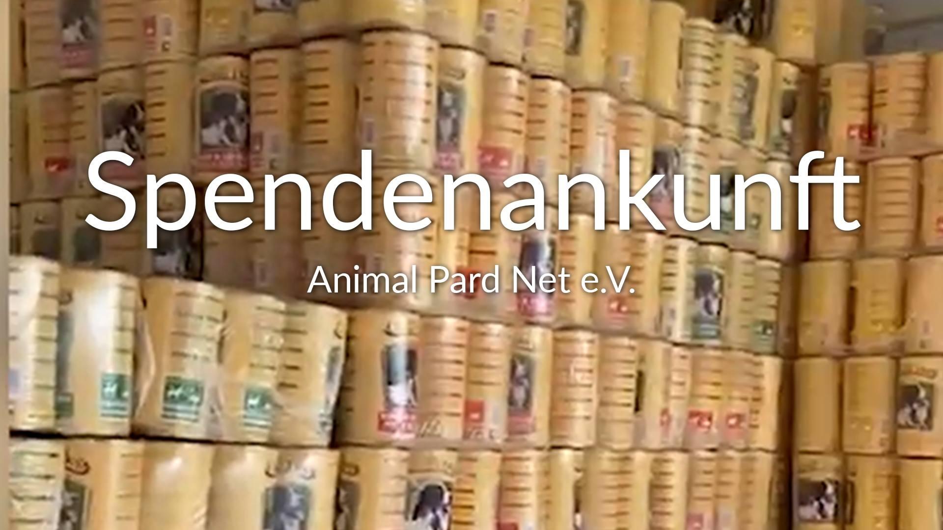 Animal Pard Net e.V.-Futterspendenankunft-maerz-2020-Spenden-Marathon-2019-Griechenland-VIDEO
