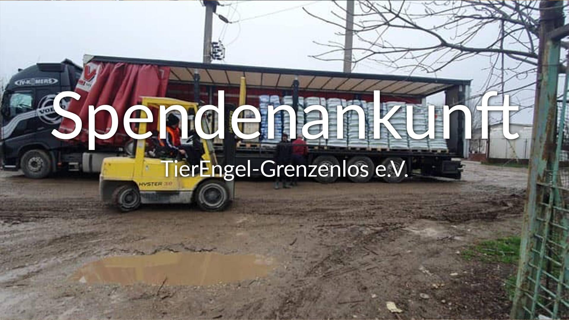 TierEngel-Grenzenlos e.V.-Futterspendenankunft-maerz-2020-Spenden-Marathon-2019-Rumänien-VIDEO