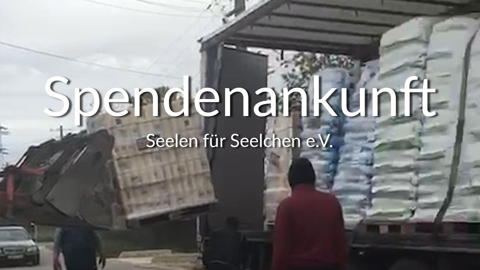 Seelen für Seelchen e.V.-Futterspendenankunft-april-2020-Spenden-Marathon-2019-Rumänien_VIDEO