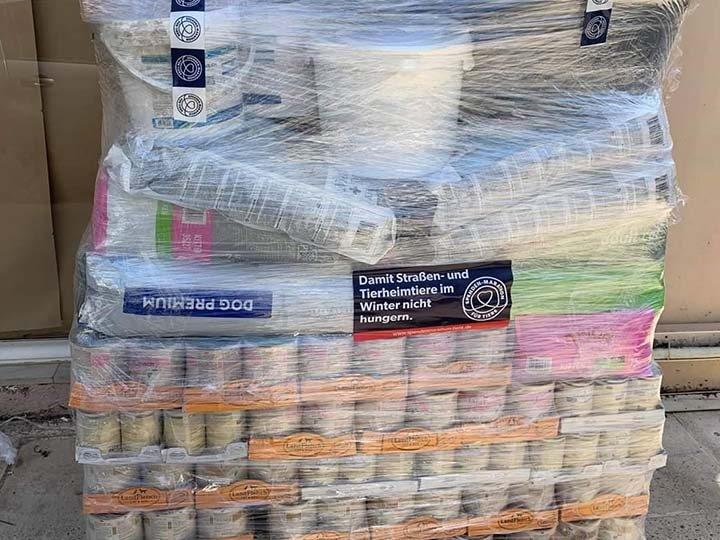 Stray Paws Deutschland e.V.-Futterspendenankunft-april-2020-Spenden-Marathon-2019-Griechenland_1