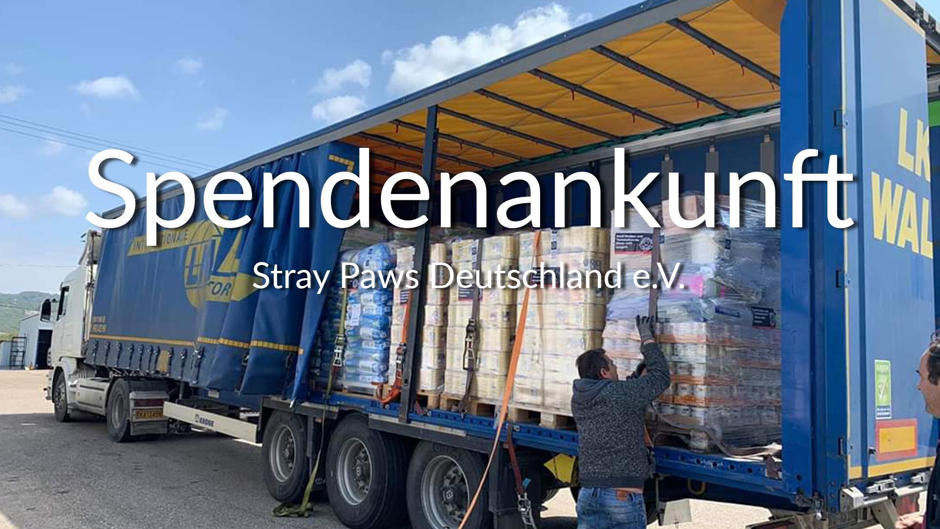Stray Paws Deutschland e.V.-Futterspendenankunft-april-2020-Spenden-Marathon-2019-Griechenland VIDEO